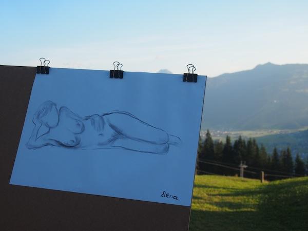 Aktmalerei in unvergleichlicher Umgebung inmitten der schönen Salzburger Bergwelt ... Ein fürs Leben einzigartiges Reise-Erlebnis.