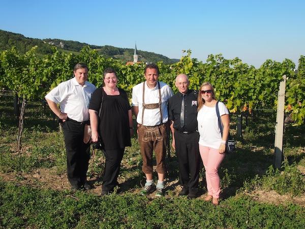 Danke an unsere tolle Runde für dieses gemeinsame Erlebnis - von links nach rechts: Andreas Susana, Monika Fuchs, Stefan Gabritsch, Petar Fuchs & myself. Schön war's!