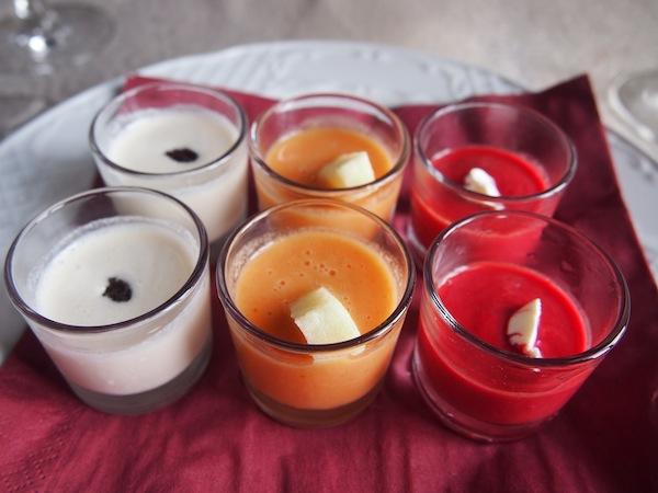 """Ein weiteres, wunderbares Highlight unserer Verkostung im heißen Klima Südspaniens sind die typischen """"Gazpachos"""" oder kalte Suppen, welche den Gaumen erfrischen und die Sinne erfreuen."""