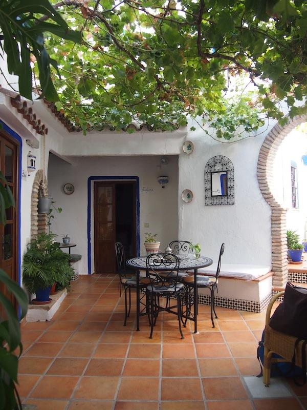 El Cobijo de Vejer ist eine Oase inmitten der Stadt, hier können wir uns wirklich entspannen und ausruhen.