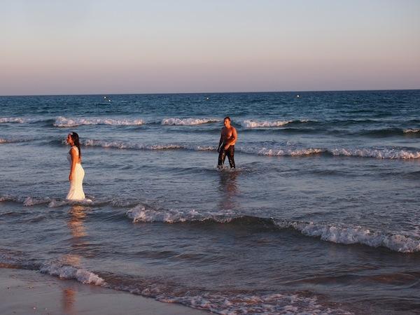 Die Romantik dieser Landschaft nutzen viele Paare ...