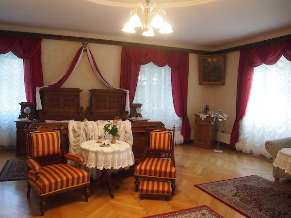 So sieht ein Genießerzimmer aus ... Hier zu Gast im Schlosshotel Rosenau im Waldviertel.