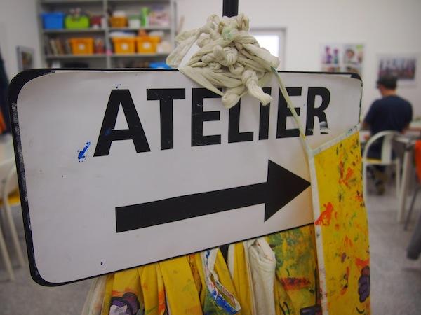 Im Atelier weist man uns den Weg ...