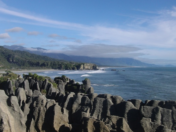 The Pancake Rocks, West Coast of the South Island, are just one of the country's major attractions to overseas visitors.