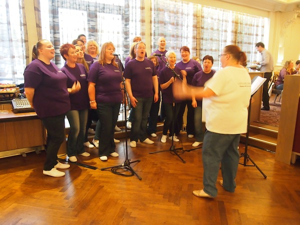 Lunchtime Relaxation: We have this beautiful Irish Choir come in and sing for us over eating. What a pleasant surprise!