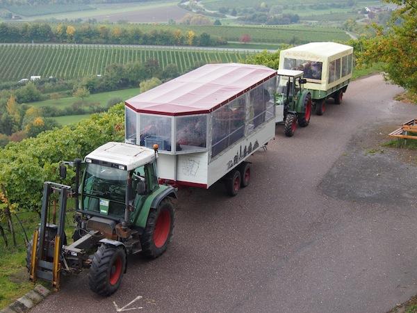 Fahrende Weinprobe inmitten der Weingärten des Zabergäu westlich von Heilbronn- ein einmaliges Regionserlebnis.