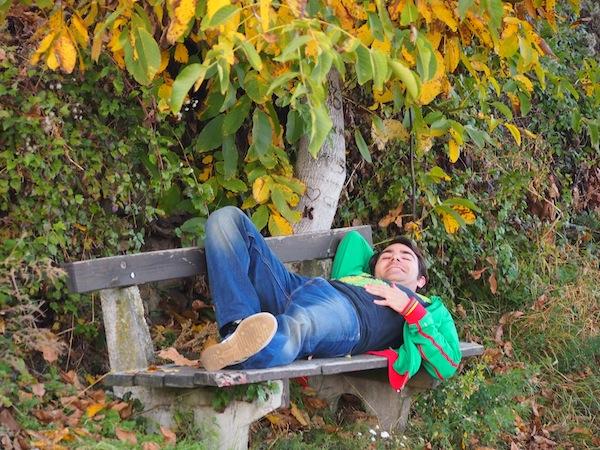 Lieblingsbild Nr. 2: Im Herbst ist es mitunter ganz entspannt Wandern gehen. Die Tage sind noch warm, die Trauben hängen reif von den Weinstöcken ... da ist's Zeit für eine kurze Pause!