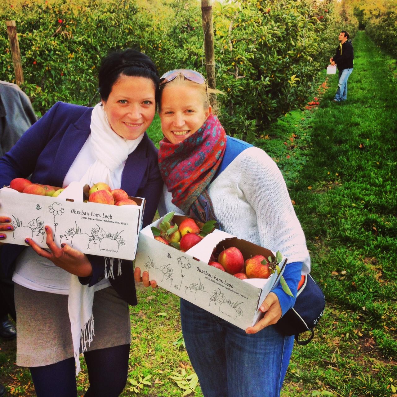 """Unterwegs mit der lieben Ursula: Im Burgenland waren wir im Obstgarten unsere eigenen Äpfel ernten, noch heute gilt für mich das bekannte Sprichwort: """"An apple a day keeps the doctor away!"""""""