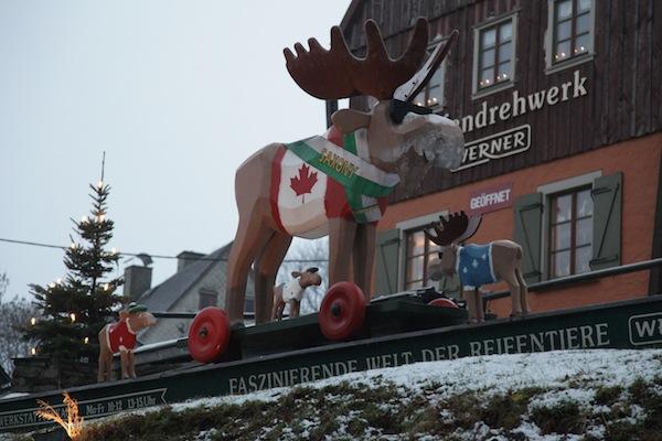 "Hier lässt sogar der ""kanadische Elch"" uns Besucher grüßen! / Foto: Anna Zell"