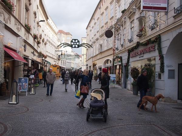 Altstadtbummel in Krems auf dem Weg zum Woracziczky bread & coffee.