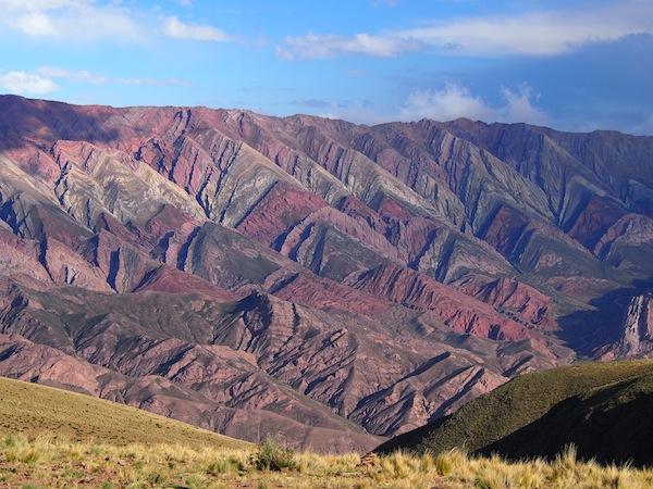 """Solche Landschaften … Wahnsinn. """"La Quebrada"""" heißen die mineralhältigen Gesteinsvorkommen im nördlichen Argentinien, unweit der Stadt Jujuy und Salta."""