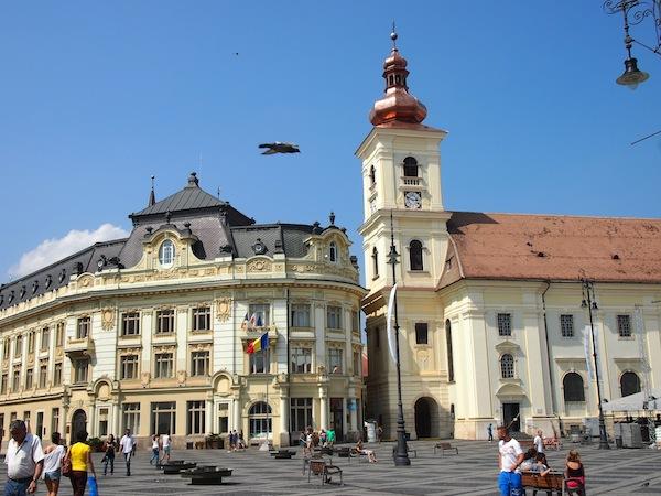 Wow! Der Hauptplatz von Sibiu (Hermannstadt).