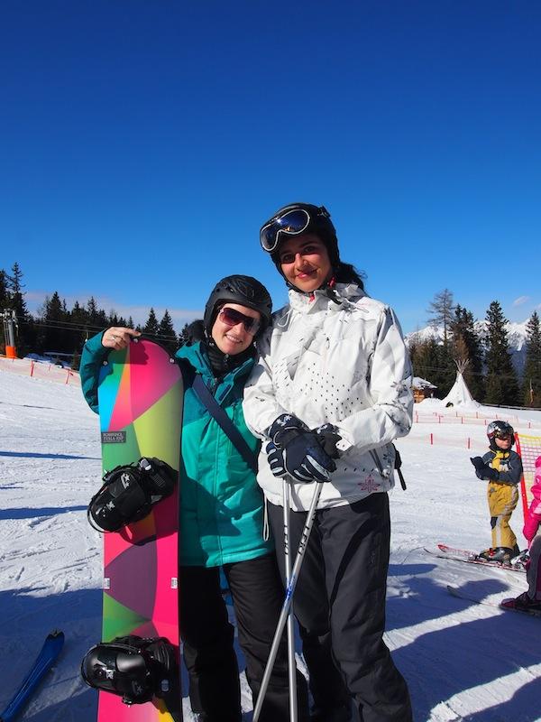 Die tapferen Wintersportlerinnen: Danke für die schöne Zeit bei Dir, liebe Bianca!