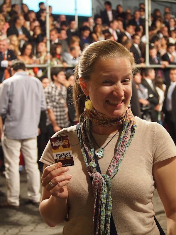 Noch heute kann ich mich darüber freuen: Unbändige Freude über das VIP-Ticket beim Weinfestival in Mendoza.