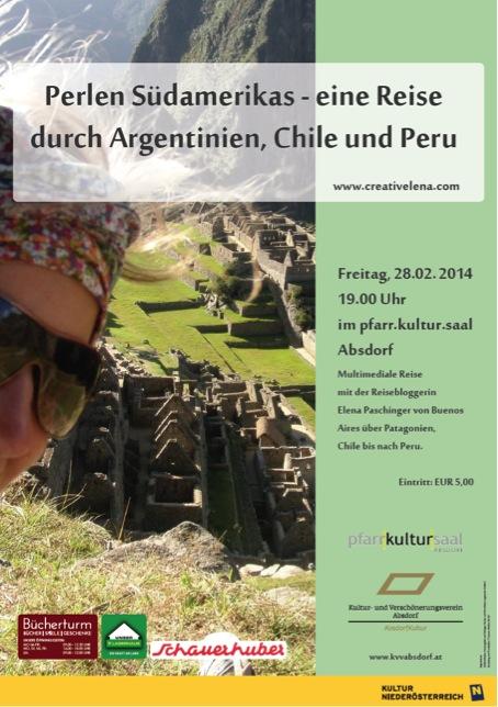 Reisevortrag Südamerika Elena Paschinger