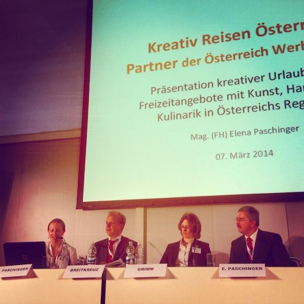 """Auch die Pressekonferenz mit der Vorstellung von """"Kreativ Reisen Österreich"""" macht mir großen Spaß ..."""