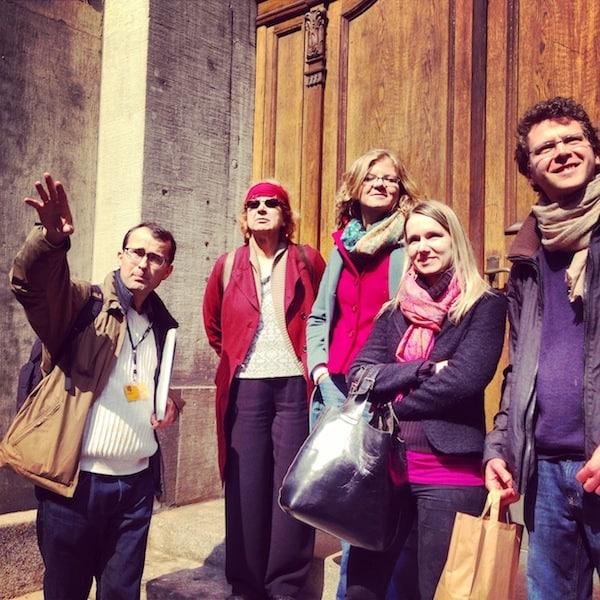 Ein schöner Ausklang meines Besuches in Dresden: Die Stadtführung mit Albrecht Hoch und dieser netten Reisegruppe, einer Familie aus München. Die Mutter (ganz links außen) stammt übrigens aus Kärnten. Ihr seht: Österreich ist eben doch überall. ;)