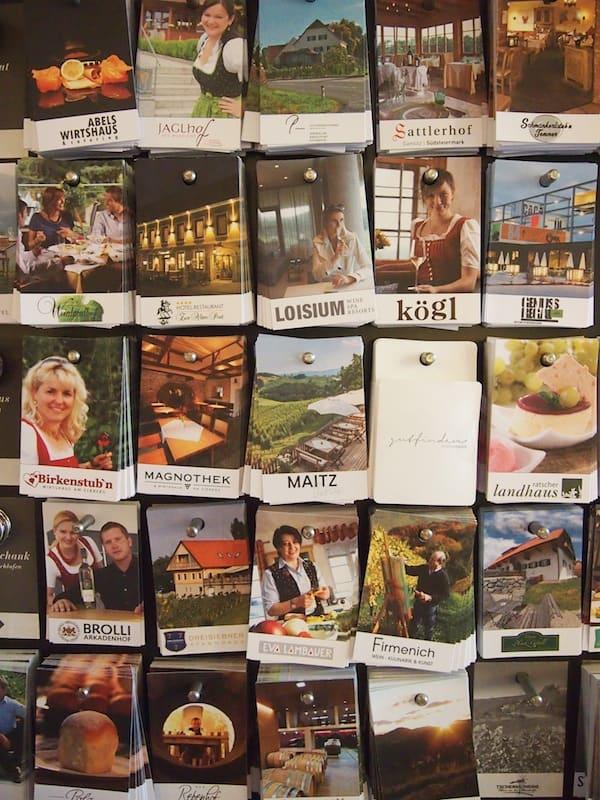 """""""Gutfinden"""" in der Südsteiermark: Die pfiffige Kärtchenlösung macht Lust auf zahlreiche Entdeckungsreisen durch die Region."""