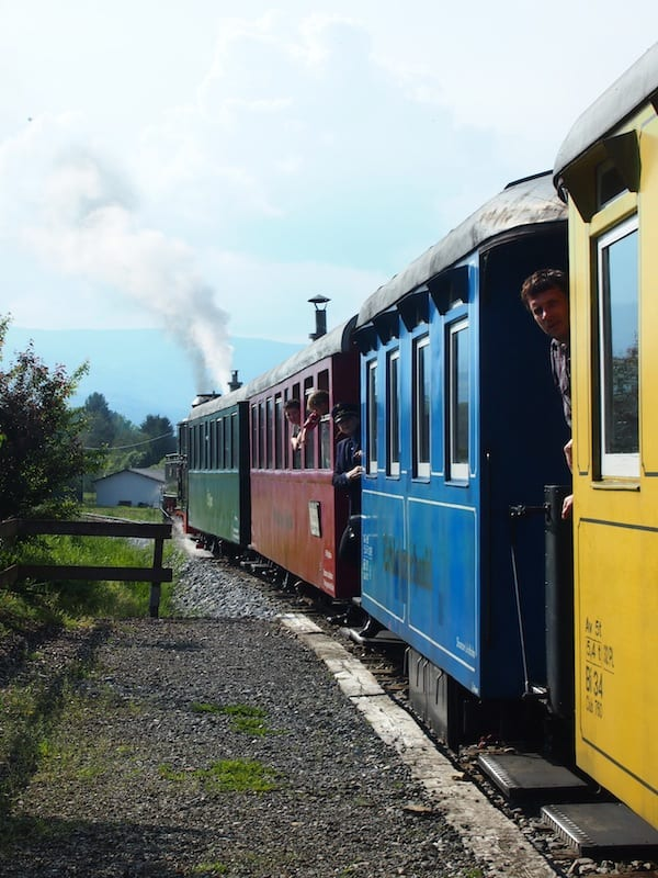 Wir Reiseblogger sagen Dankeschön & Auf Wiedersehen: Mit diesem Zug geht's zurück zum Hotel Restaurant Stainzerhof. Ein großartiges Genuss-Erlebnis hier im weststeirischen Schilcherland!