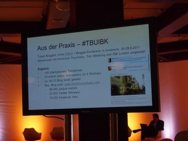 Bereits im Jahr 2011 veranstaltet die Österreich Werbung in Kooperation mit Travel Bloggers Unite eine der ersten internationalen Blogger-Konferenzen in der Stadt Innsbruck, an der auch ich teilnehmen durfte.