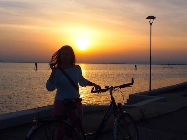 "Obligatorisches ""Sonnenuntergang-Posing-Foto"", hehe."