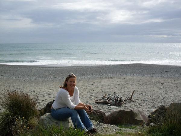 Wenig später begrüßt uns die Tasmanische See im Westen von Neuseelands Südinsel mit diesem atemberaubenden Panorama ...