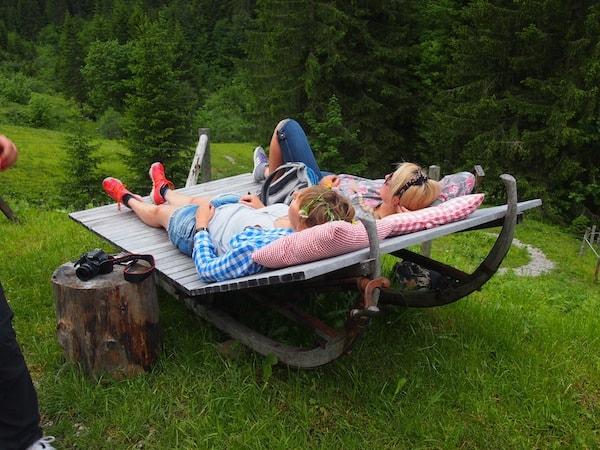 Auch die GenussHütten hier im Tal bieten zahlreiche Möglichkeiten zur Entspannung ...