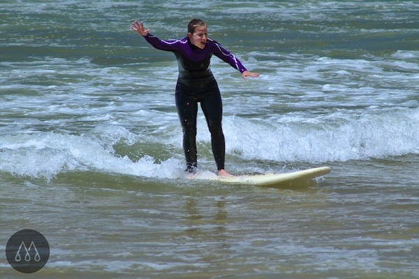 I am surfing. Really. WOW! Thank you so much, dear team at MellowMove surf camp, for sharing this unique moment.