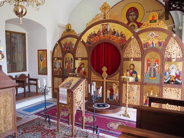 Das Stift Geras bietet weiters eine überaus schöne byzantinische Kapelle ...