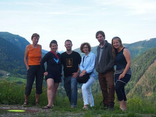... bis zum genussvollen Ausklang am Etappenzielort Annaberg: Wir haben es geschafft! #BloggerPilgern. :D