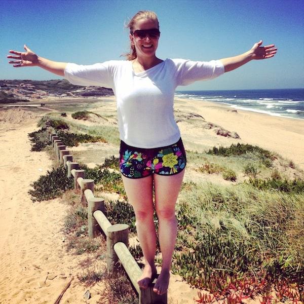 """Glück, das: Am Strand """"Praia Azul"""" in Portugal Surfen lernen.!"""