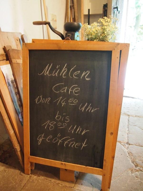 Das Mühlen-Café lohnt den Besuch schon alleine ob seines historischen Charmes ...