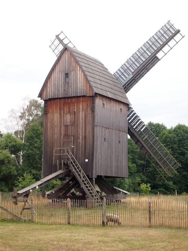 Gleich nebenan befindet sich auch eine alte Windmühle, fachmännisch von einem Holländer restauriert.