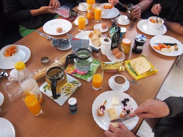 Nach diesem Frühstück sind wir gerüstet für den Tag ...