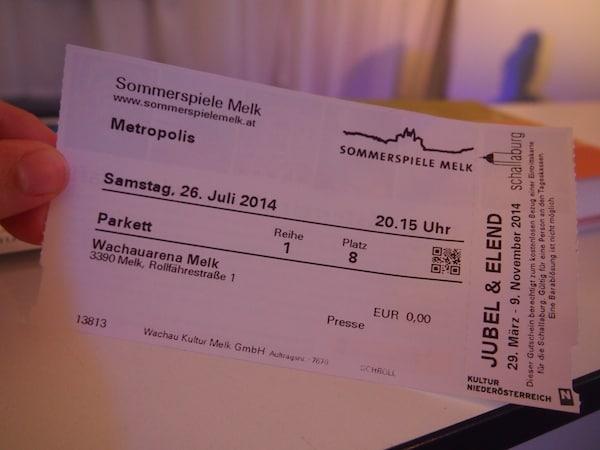 """Noch bis 2. August 2014 läuft die aktuelle Vorstellung von """"Metropolis"""". Die Kultur Melk bietet das ganze Jahr über attraktive Veranstaltungen: www.kultur-melk.at"""