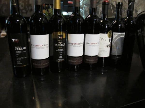 Sowohl die feine Weinauswahl...