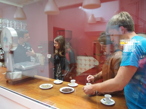 "Taste Porto Food Tours literally takes you ""behind the scenes"" of the standard visitor experience, such as sampling a variety of the coffee beans used at Casa Christina traditional Porto coffeehouse."
