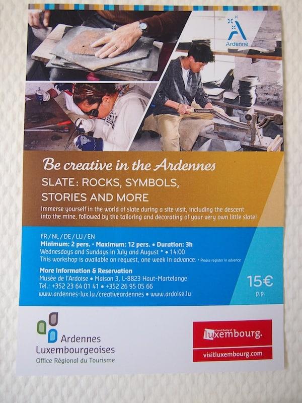 Die Kursankündigung zum Kreativ-Sein macht Lust auf mehr, hier beim Kreativ-Festival in Luxemburg!
