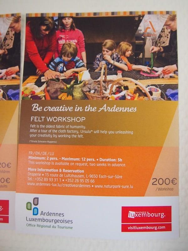 Be Creative in the Ardennes - beim Filzworkshop!