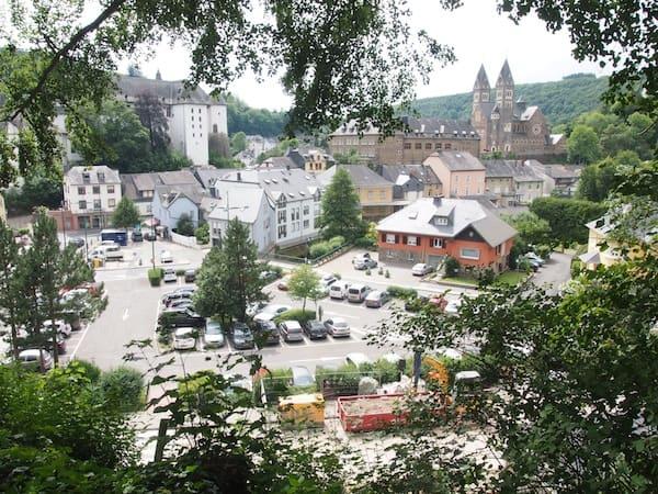 Die Stadt Clervaux, fotografiert aus einem besonderen Blickwinkel ...
