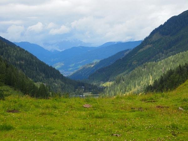 Blick ins Tal von Zauchensee ...