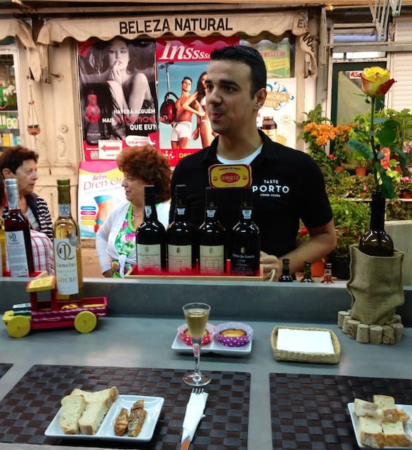 Welcome to Taste Porto Food Tours: With André, our guide, at Bolhão Market.