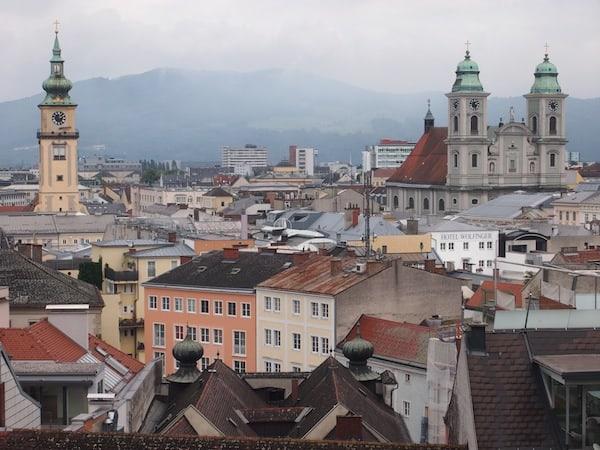 Der Blick vom Schlossberg ...