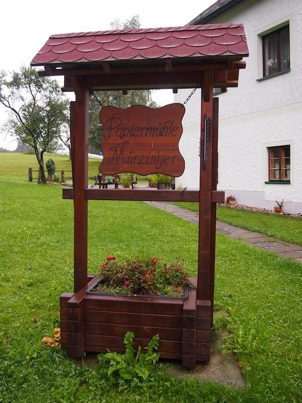 Ankommen in der Papiermühle Mörzinger in der Wanderregion Oberes Waldviertel ...