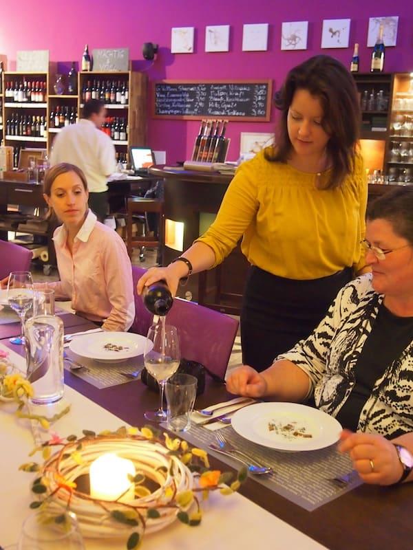 Wenn sich dazu noch die exzellente Beratung der Weinliebhaberin und Connaisseurin Laura gesellt ...