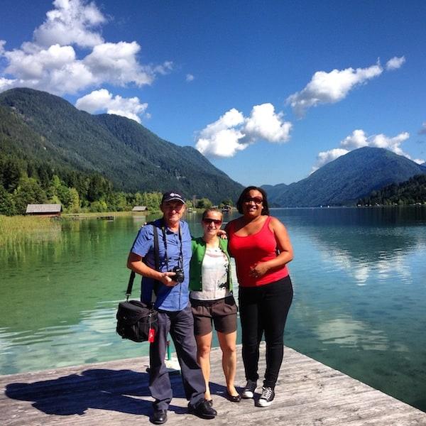 Zum Beispiel beim Anblick solcher Landschaftsaufnahmen: Wiedersehensfreude unter Reisebloggern mit Filmkulisse Österreich im Hintergrund. :D