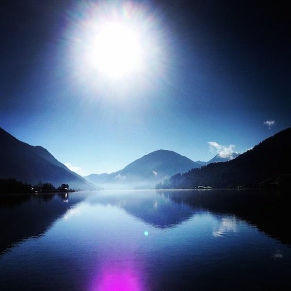 ... in dem noch echte Ruhe und nahezu unwirklich schöne Anblicke wie diese wirken ...