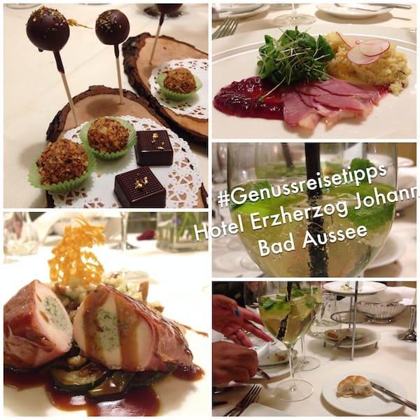 Kulinarisch weiter geht es hier: Abendessen vom Feinsten dank der kreativen Küche des Hotel Erzherzog Johann in Bad Aussee!