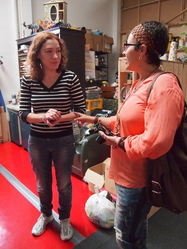 """Die Künstlerkooperative """"3 Mais Arte"""" bietet Künstlern Werk- und Ausstellungsflächen und lädt zu ungezwungenen Begegnungen mit selbigen ein."""