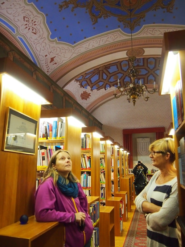 "Apart from Petra and her studio, make sure you visit the local ""peace library"" in town that is located in the former synagogue of the Jewish community of Stadtschlaining."